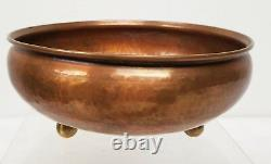 Antique Wiener Werkstatte Arts and Crafts Hammered Copper Bowl Heichlinger