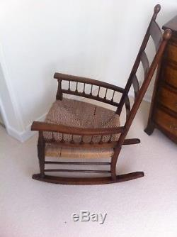 Antique arts and Crafts Rocking chair c1900, excellent condition