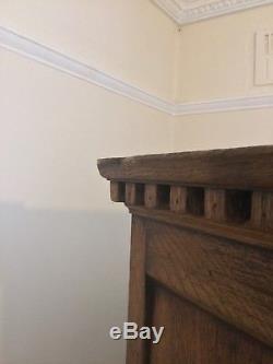 Antique arts and craft wardrobe solid oak