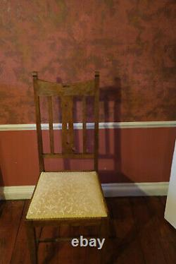Antique dining room table with 3 leaves 10 chairs and 2 Carvers. Arts and Crafts