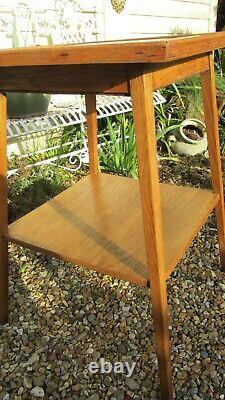 Antique side table arts and crafts golden oak Libertys
