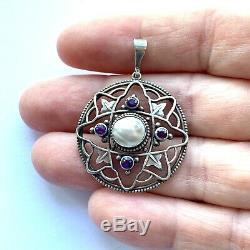 Antique silver arts and crafts nouveau pendant William Hair Haseler
