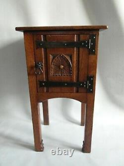 Antique small Arts and crafts period oak cupboard