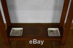 Antique style Arts and Crafts hall stand umberella reciever coat stand