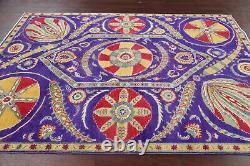 Art & Craft VIBRANT PURPLE Super Kazak Area Rug Hand-Knotted Oriental Wool 6'x8