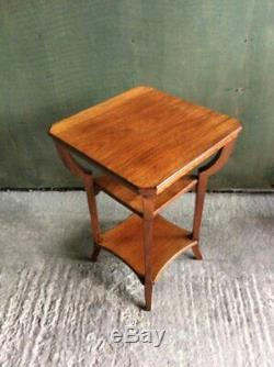 Art Deco Arts and crafts Mahogany three tier bentwood side table signed Brael