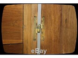Art Deco/arts And Crafts Solid Oak French Compactum Fitted Wardrobe