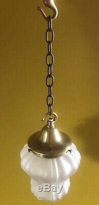 Art Nouveau / Arts And Crafts Pendant Light / Lamp