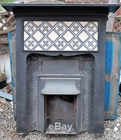 Art Nouveau/arts And Crafts Cast Iron Fireplace. 1st Offer Over £145 Wins