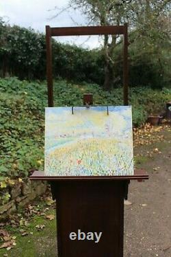Artist's painting easel Arts and Crafts design