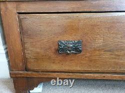 Arts And Crafts Antique Oak Wardrobe