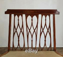 Arts And Crafts / Art Nouveau Inlaid Settee, Bench, Settle