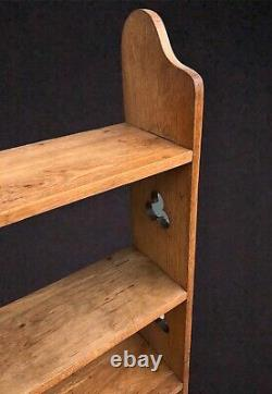 Arts And Crafts Faded Oak Shelves / Bookcase