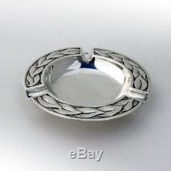 Arts And Crafts Foliate Ash Tray Dirk Van Erp Sterling Silver