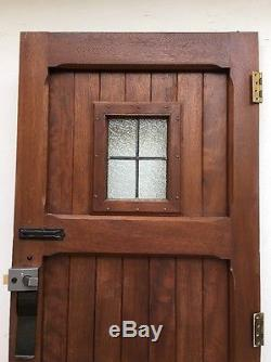 Arts And Crafts Front Door Leaded Glazed Reclaimed Period Antique Old Hardwood