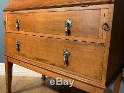 Arts And Crafts Golden Oak Bureau Bookcase