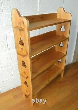 Arts And Crafts Liberty Style Pine Peg Joint Open Bookcase Shelves. Postage £12
