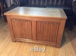 Arts And Crafts Linenfold Blanket Box