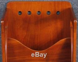 Arts And Crafts Mahogany Tall Narrow Magazine Stand Rack By Finnigans LTD