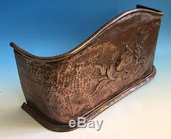 Arts And Crafts / Nouveau Copper Fireguard Circa 1900