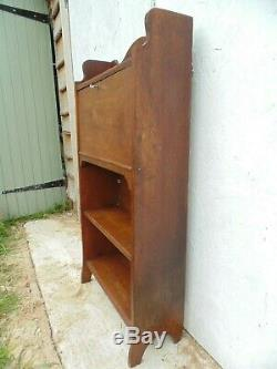 Arts And Crafts Oak Bookcase With Bureau And Key Free Delivery Retro Vintage