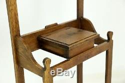 Arts And Crafts Oak Hall Stand Glove Box FREE Nationwide Delivery