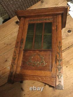 Arts And Crafts Oak Wall Cupboard Cabinet 12.5 X 17 X 6.5 Deep Libertys Style