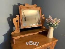 Arts And Crafts Satinwood Dressing Table / Chest