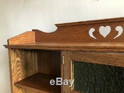 Arts And Crafts Solid Oak Open Bookcase C1910