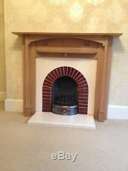 Arts And Crafts Style Wooden Fire Surround