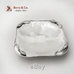 Arts And Crafts Tray Serving Plate Cone Decoration Paul Peterson Sterling Silver