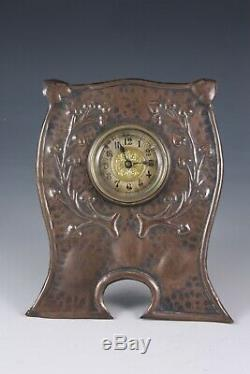 Arts & Crafts copper easel clock similar work to Newlyn and Keswick schools 1900