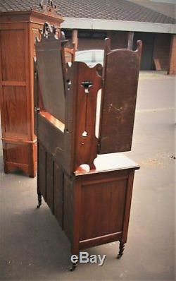 Arts and Crafts (1910) Wardrobe and Matching Dresser Set