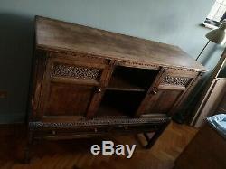 Arts and Crafts Antique Vintage Sideboard Storage Cabinet Unit Dining Living