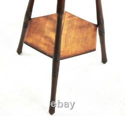 Arts and Crafts Beech Hexagonal Table 19th Century 5734