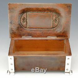 Arts and Crafts Box Silver and Copper A. E. Jones Ltd circa 1905