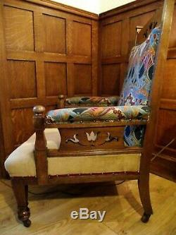 Arts and Crafts Chair Armchair Circa 1900 Manner of Liberty