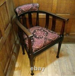 Arts and Crafts Chair C 1900- All New Upholstery- Voysey by William Morris