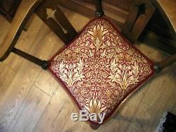Arts and Crafts Chair Circa 1900 All New Upholstery William Morris Fabric