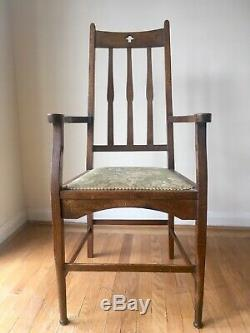 Arts and Crafts Chair Liberty Voysey Knox c1890 Original Antique Oak Chair