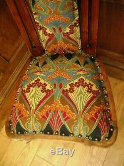 Arts and Crafts Chair Manner of E. A. Taylor Glasgow School -ALL NEW UPHOLSTERY