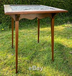 Arts and Crafts Copper Topped Side Table Yattendon Keswick W. Manson Cornish