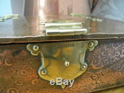 Arts and Crafts Copper and Brass box