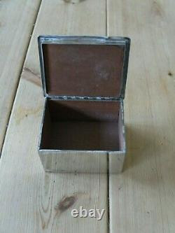 Arts and Crafts EPNS trinket box circa 1900