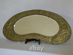 Arts and Crafts Early 20th Century Brass Mirror