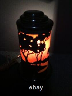 Arts and Crafts Era Silhouette Lamp