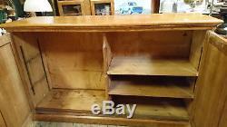 Arts and Crafts Golden Oak Linen Press School Book Cupboard