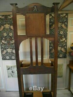 Arts and Crafts Hall Stand Circa 1900 Solid Oak Coat Stand Fully Restored