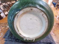 Arts and Crafts Hampshire Pottery Curdled Matte Green Vase #148