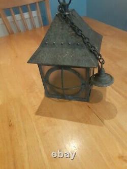 Arts and Crafts Lantern Brass